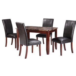 Jalen Traditional 5 Piece Dining Set