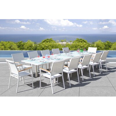 Essense 13 Piece Dining Set Bellini Home and Garden Color: White