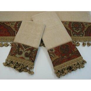 Rosabella Decorative 3 Piece Towel Set