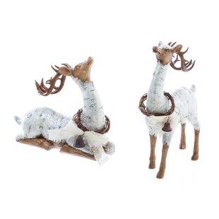 2 piece reindeer garden dcor statue set set of 2 - Reindeer Images 2