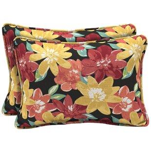 Espana Floral Outdoor Lumbar Pillow (Set of 2)