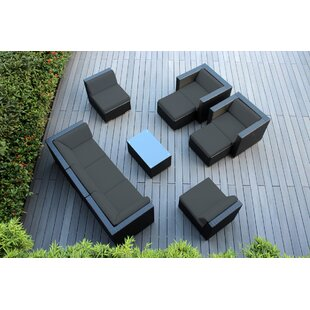 Ohana Depot Ohana 10 Piece Rattan Sectional Set with Cushions