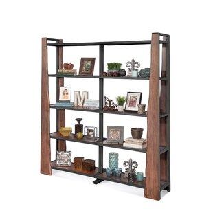 Runion Live Edge Industrial Bunching Standard Bookcase Loon Peak