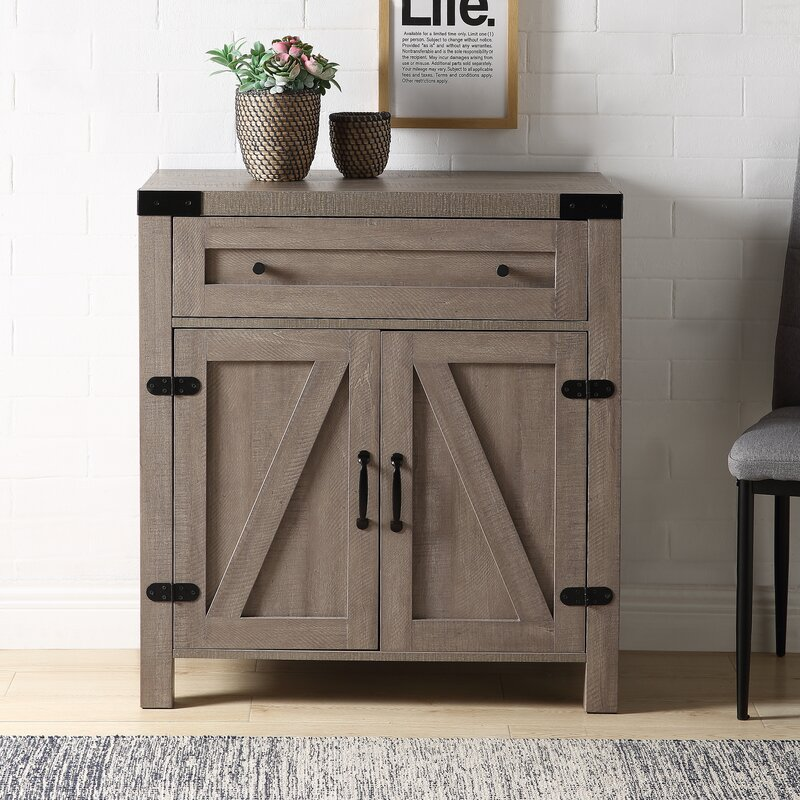 gracie oaks ustyle rustic console table with drawer and