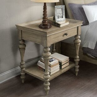 One Allium Way Paredes 1 Drawer Nightstand