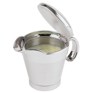 13.5 Oz. Insulated Stainless Steel Gravy Boat with Spout