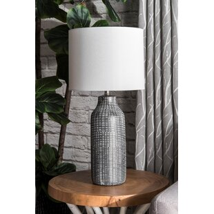 Eyre Ceramic Linen Shade 26 Table Lamp