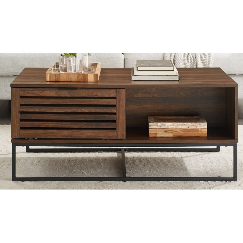Union Rustic Scheel Coffee Table With Storage Reviews Wayfair