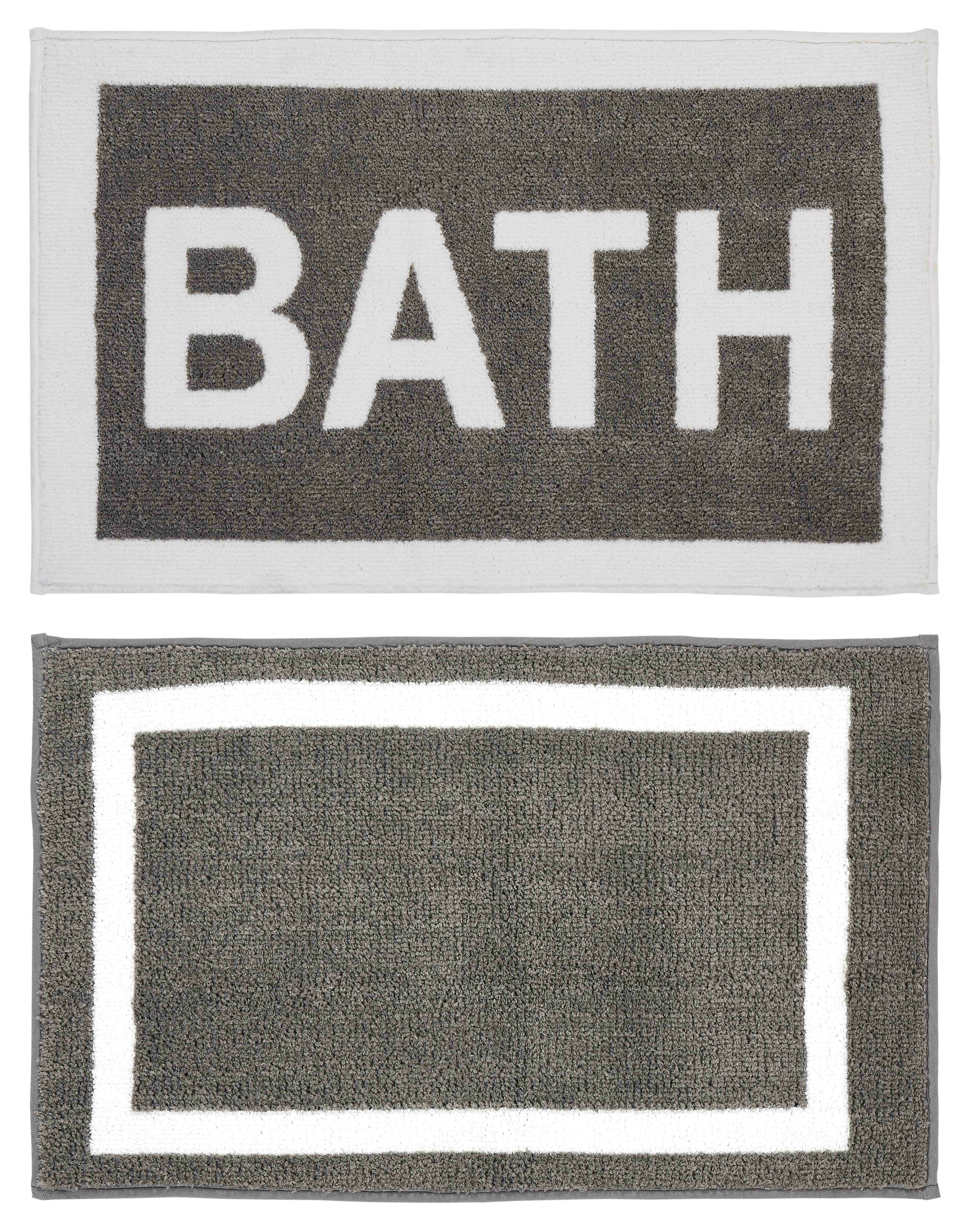 Latitude Run Eugenie Rectangle Non Slip Striped 2 Piece Bath Rug Set Wayfair
