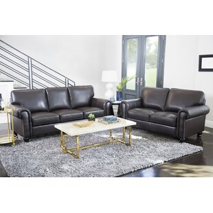 Coggins Leather 2 Piece Living Room Set