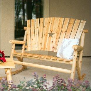 Alaniz Star Double Rocking Bench by Millwood Pines