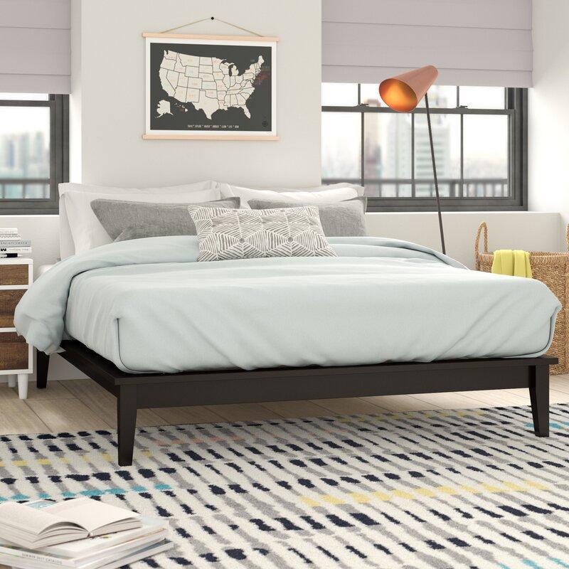 6a1ff3a8e410fa Trule Teen Chance Wood Platform Bed Frame   Wayfair