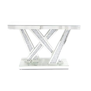 Remington Mirrored Console Table by Rosdorf Park