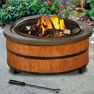 Sunjoy Alta Steel Wood Burning Fire Pit