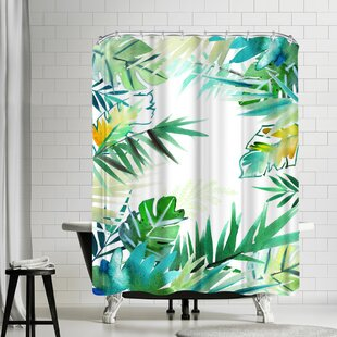 Victoria Nelson Tropical Foliage Single Shower Curtain by East Urban Home