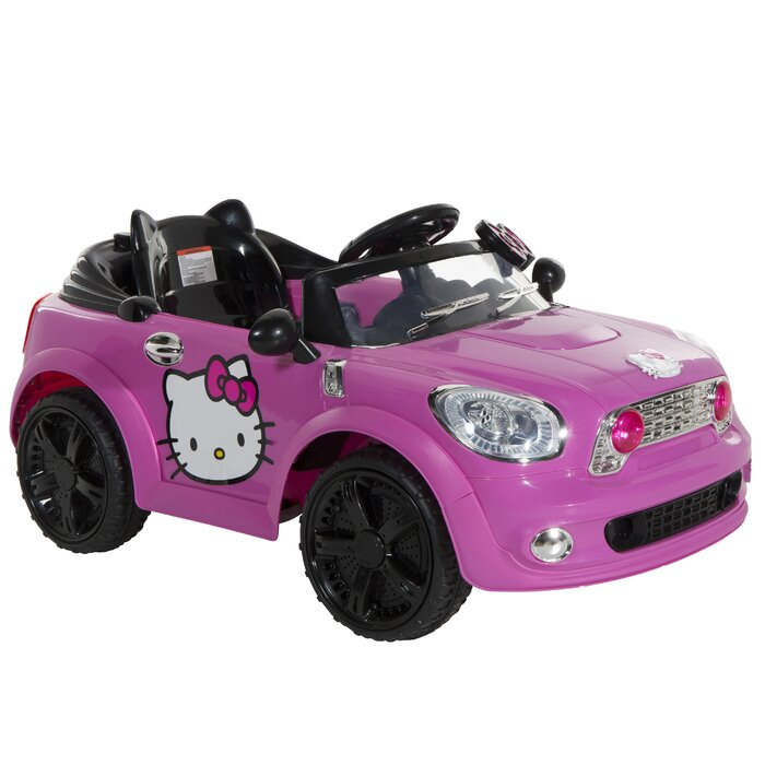 Hello Kitty Coupe 6V Battery Powered Car