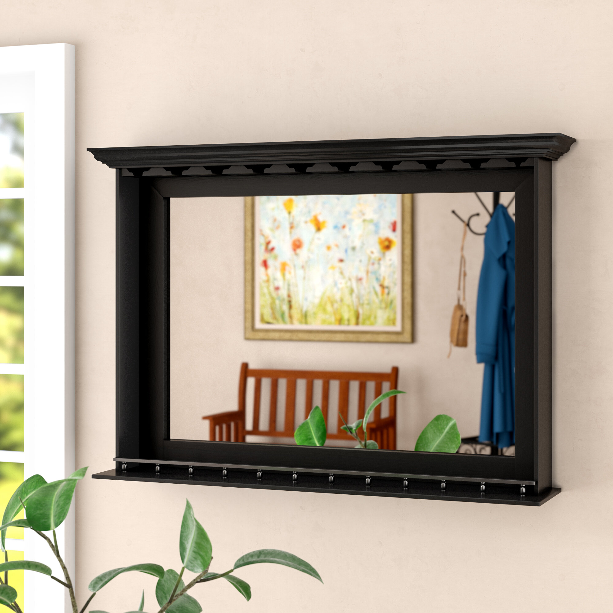 Darby Home Co Chiles Bar Traditional Accent Mirror Reviews Wayfair