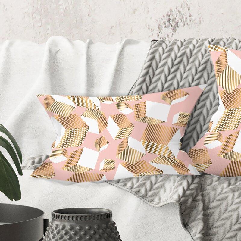 East Urban Home Cubes I Lumbar Pillow Wayfair