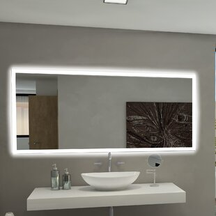 Affordable Rectangle Backlit Bathroom/Vanity Wall Mirror By Paris Mirror