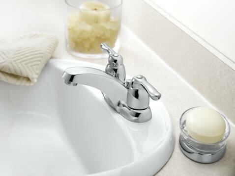 Moen Chateau Centerset Low Arc Bathroom Faucet Wayfair