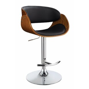 Hunsinger Adjustable Height Swivel Bar Stool by Wrought Studio