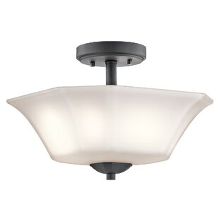 Huntington 2-Light Semi-Flush Mount by Alcott Hill