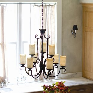 Darby Home Co Jamar 9-Light Shaded Chandelier