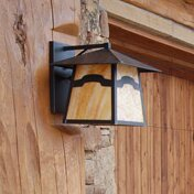 Inexpensive 1-Light Outdoor Wall Lantern By Meyda Tiffany