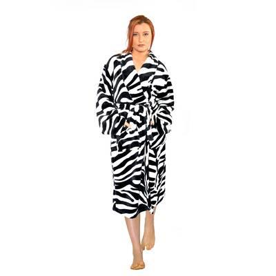 Home Soft Things Cheetah Flannel Fleece Bathrobe  4fb3f8ffb