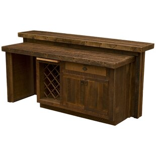 Corrugated Bar with Wine Storage by Fireside Lodge