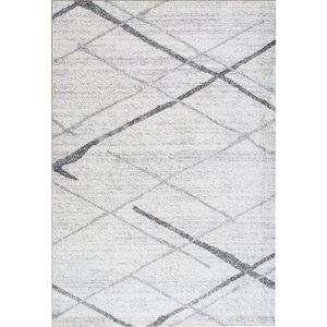 Azha Broken Light Gray Area Rug