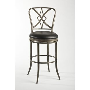 Newbury 26 Swivel Bar Stool by Fleur De Lis Living Fresh
