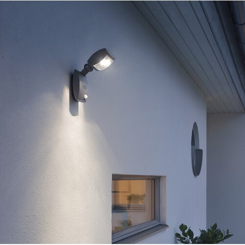 Latina LED Wall Light with PIR Sensor Konstsmide Size: 28cm H x 11cm W x 10cm D