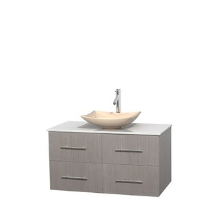 Centra 42 Wall-Mounted Single Bathroom Vanity Set by Wyndham Collection