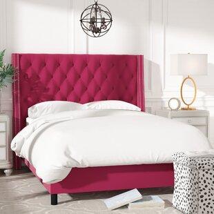 Willa Arlo Interiors Aurelien Tufted Cotton Upholstered Panel Bed