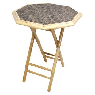 Escolta Octagonal Folding Bamboo End Table