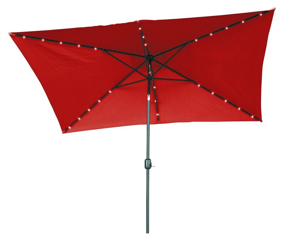 Rectangular Led Umbrella: Trademark Innovations 10' X 6.5' Rectangular Lighted