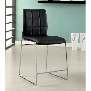 Roesler Contemporary Leather Upholstered Dining Chair (Set of 2) Latitude Run