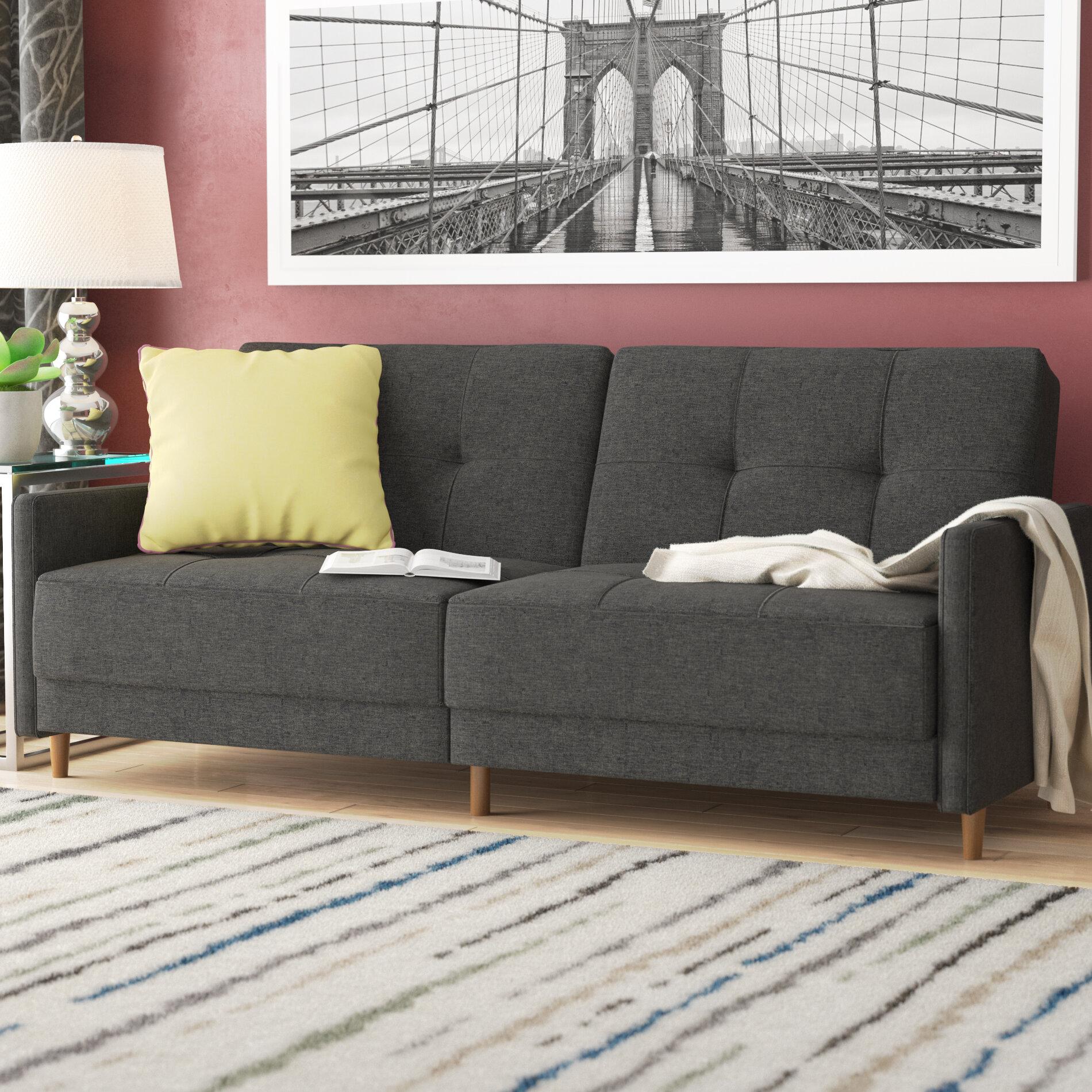 Zipcode design geraldton linen convertible sofa reviews wayfair