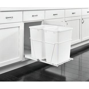 Rev-A-Shelf Plastic 8.75 Gallon Pull Out Trash Can