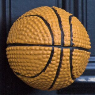 Handpainted Basketball Round Knob (Set of 10)