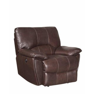 Alicea Leather Rocker Recliner by Canora Grey SKU:DB969762 Check Price