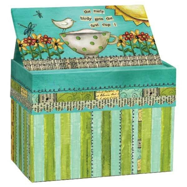 august grove jaisingh recipe card box wayfair