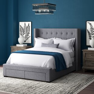 Kerens Savoy Upholstered Storage Panel Bed