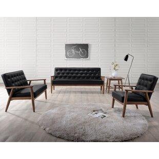 Zipcode Design Zoee 3 Piece Living Room Set