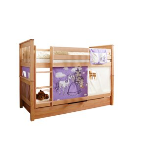 Akins European Single Bunk Bed With Textile Set By Harriet Bee