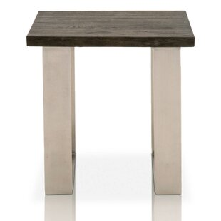 Juliet Square Oak Wood End Table by Foundry Select