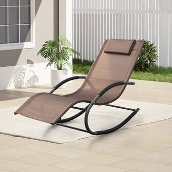Latitude Run Eiland Armless Reclining Chaise Lounge Wayfair