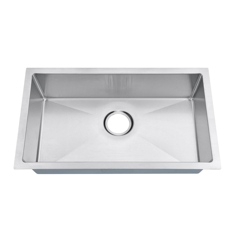 Mowa 18 Gauge 27 L X 16 W Undermount Kitchen Sink Wayfair