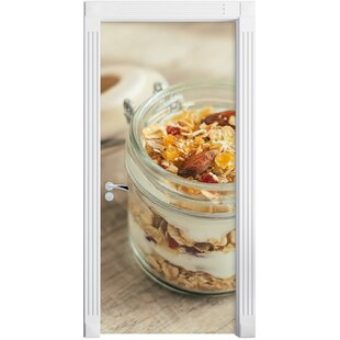 Yoghurt Muesli In A Glass Door Sticker By East Urban Home